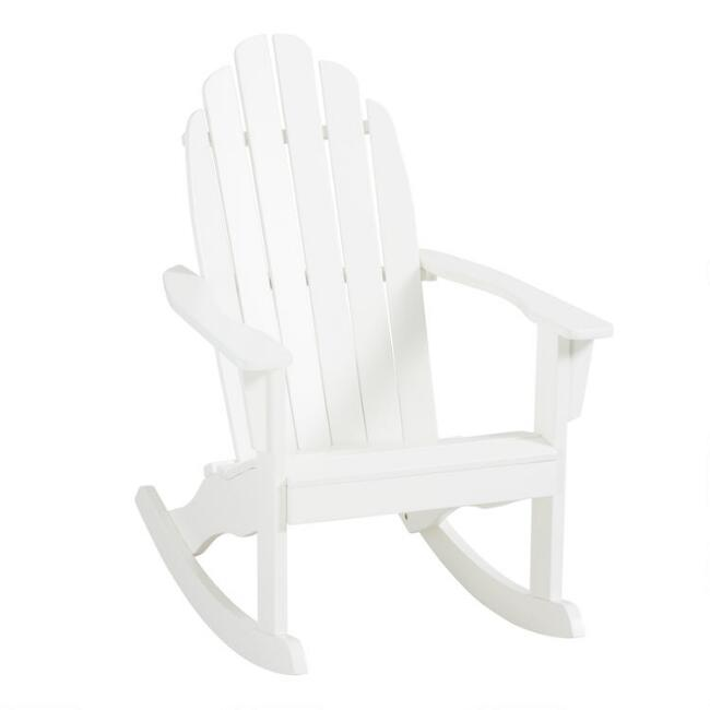 Antique White Adirondack Rocking Chair