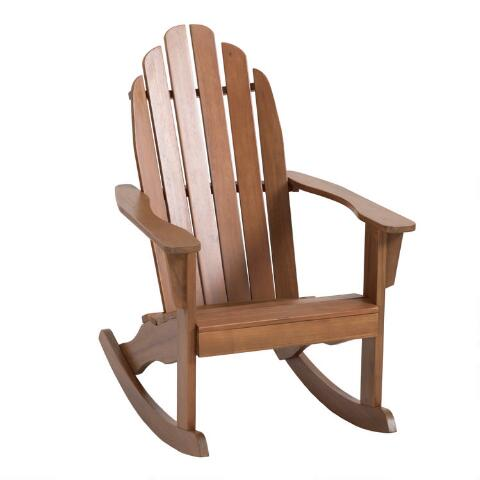 Natural Wood Adirondack Rocking Chair World Market