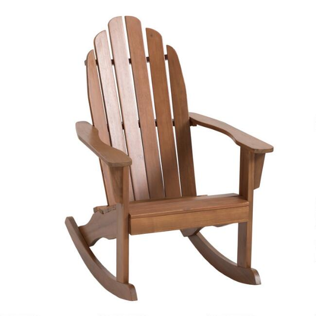 Brilliant Natural Wood Adirondack Rocking Chair Frankydiablos Diy Chair Ideas Frankydiabloscom