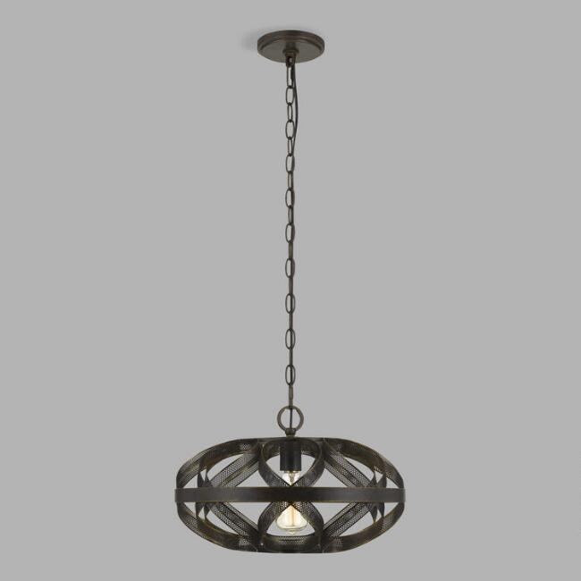 Dark Bronze Metal Mesh Owen Pendant Lamp