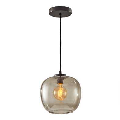 Matte Black and Smoky Glass Meyer Pendant Lamp