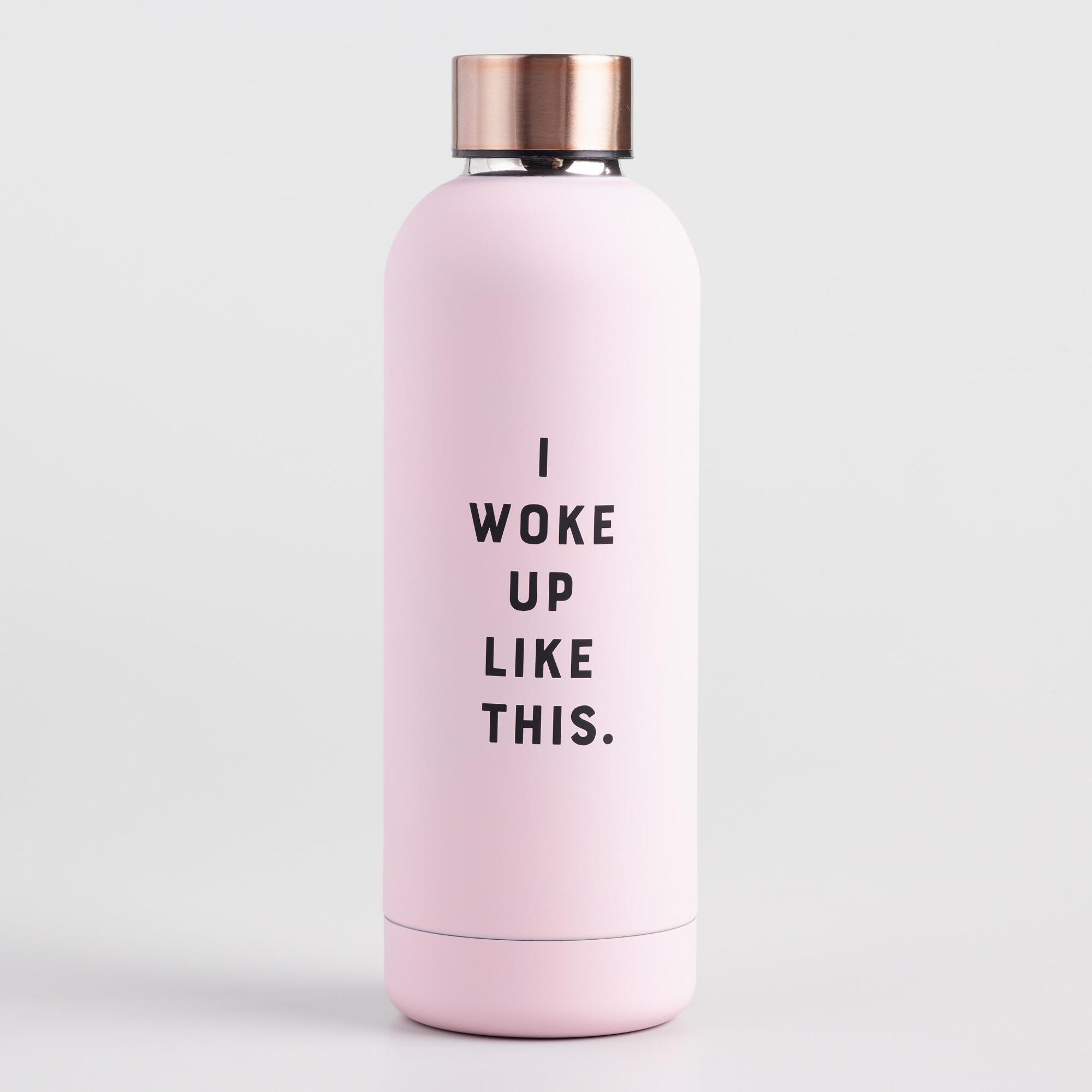 I Woke Up Like This Insulated Stainless Steel Water Bottle by World Market