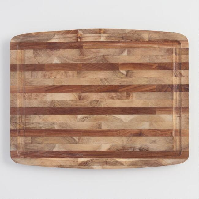 Black Walnut and Acacia Wood Trencher Carving Board