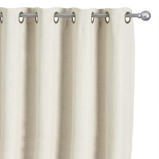 Natural Caron Grommet Top Room Darkening Curtains Set of 2