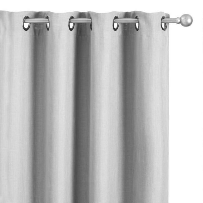 Gray Caron Grommet Top Room Darkening Curtains Set of 2