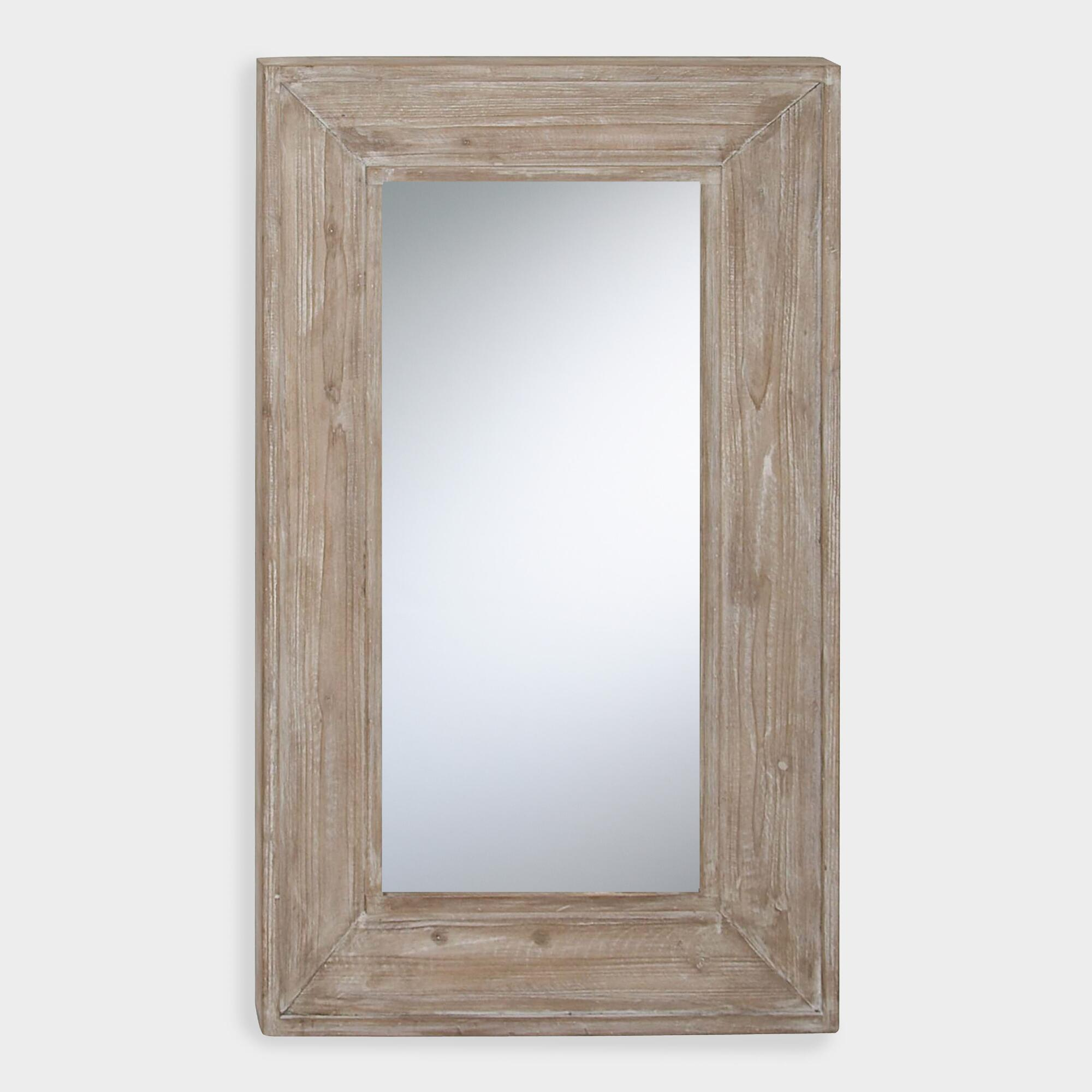 Rectangular Rustic Wood Wall Mirror by World Market