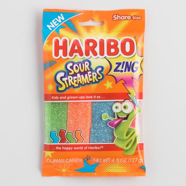 Haribo Zing Sour Streamers Gummy Candy