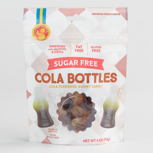 Candy People Sugar Free Cola Bottles Gummy Candy