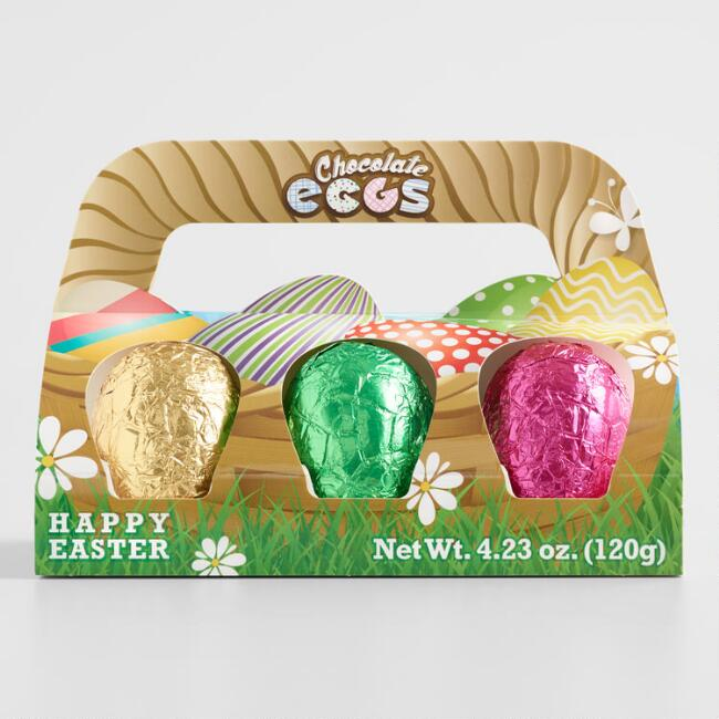 Vero Foil Wrapped Chocolate Eggs 6 Count