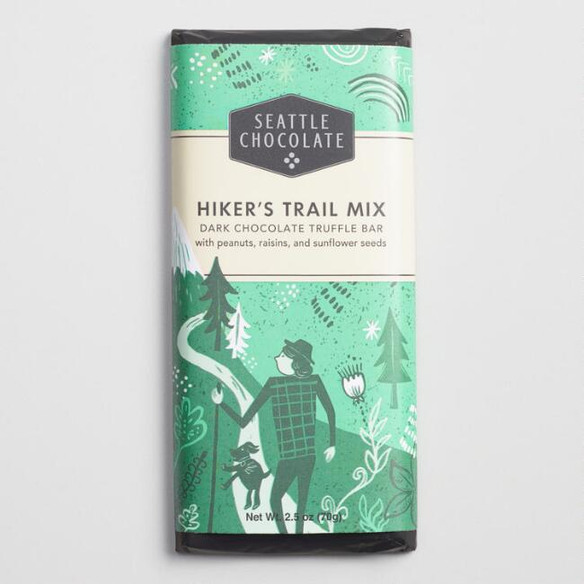 Seattle Chocolate Hiker's Trail Mix Dark Chocolate Bar