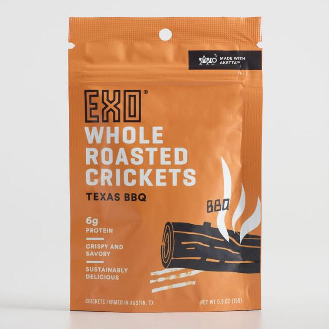 EXO Texas BBQ Whole Roasted Crickets Set of 12