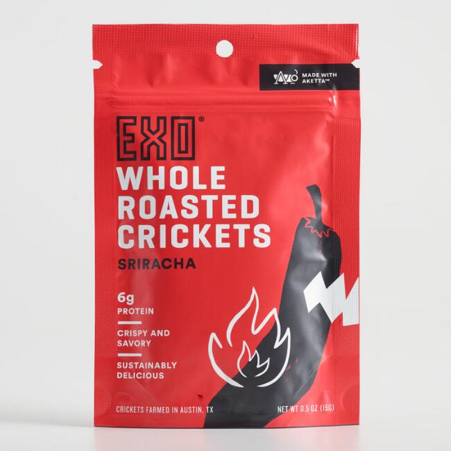 EXO Sriracha Whole Roasted Crickets Set of 12