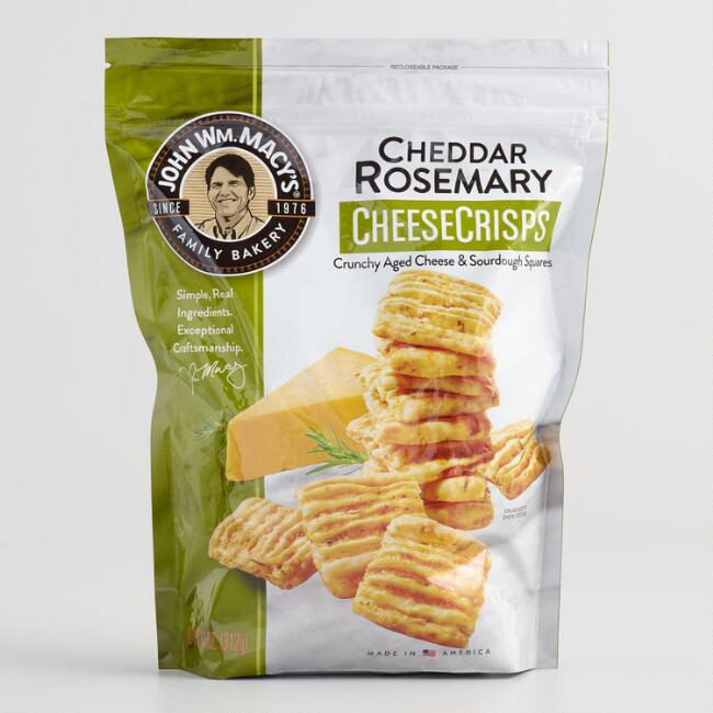 Large Macy's Cheddar Rosemary Cheese Crisps