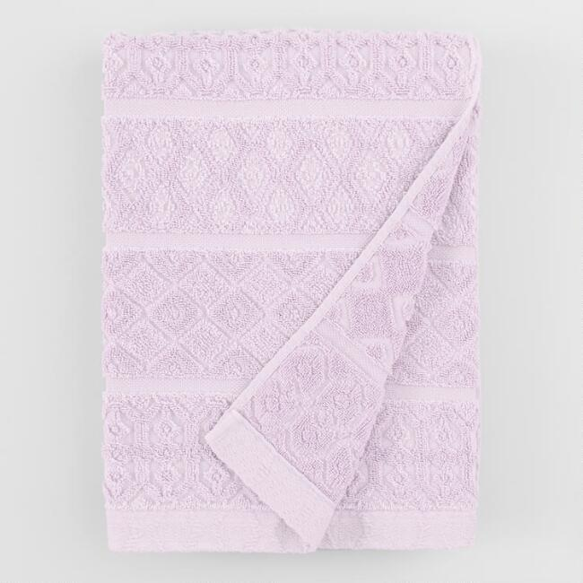 Lavender Sunfaded Sculpted Sadie Bath Towel