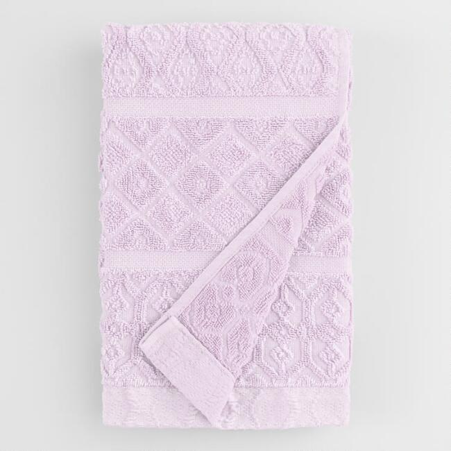Lavender Sunfaded Sculpted Sadie Hand Towel