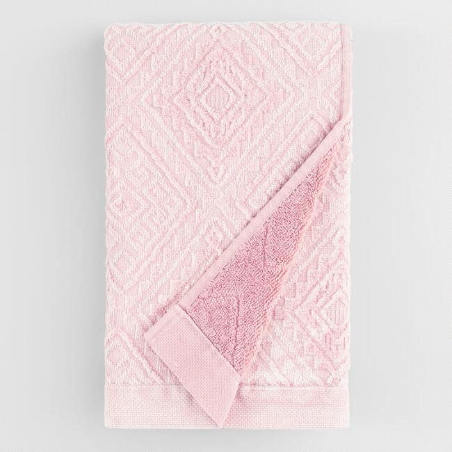 Blush Sunfaded Sculpted Aria Hand Towel