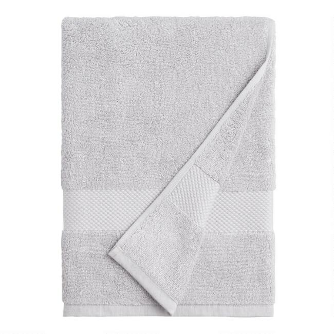 Pebble Gray Cotton Bath Towel