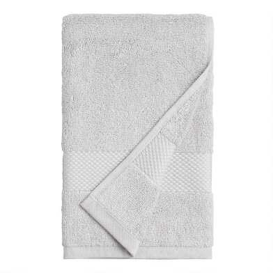 Pebble Gray Cotton Hand Towel
