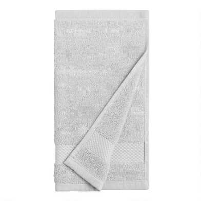 Light Pebble Gray Cotton Washcloths Set of 2