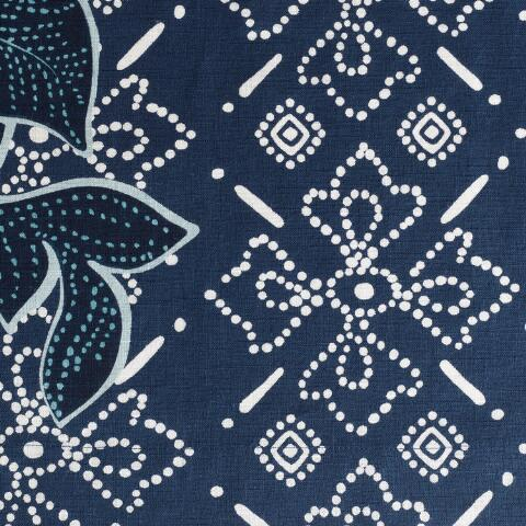 Superb Indigo Blue Batik Floral Shower Curtain Onthecornerstone Fun Painted Chair Ideas Images Onthecornerstoneorg