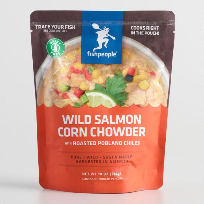Fishpeople Wild Salmon Corn Chowder with Chiles Set of 2