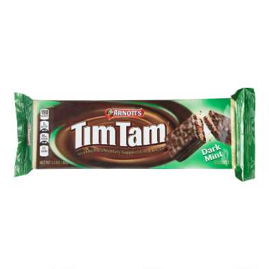 Arnott's Tim Tam Mint Dark Chocolate Cookies