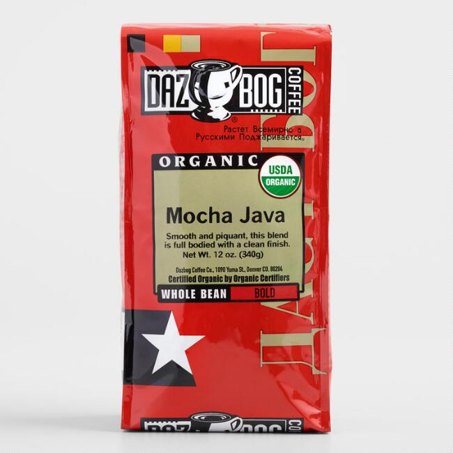 DazBog Mocha Java Organic Whole Bean Coffee