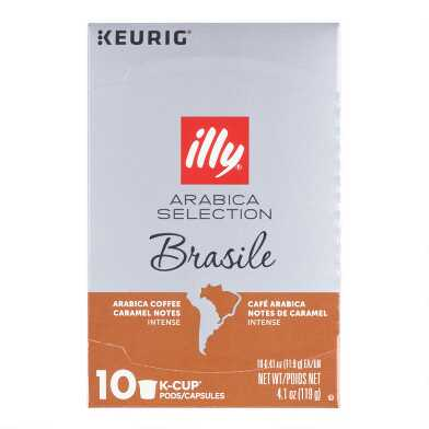 Illy Arabica Selection Brasile Coffee K-Cup 10 Count