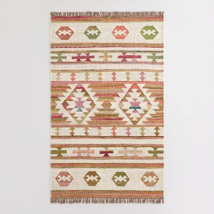 Boho Woven Cotton Kilim Alina Area Rug World Market