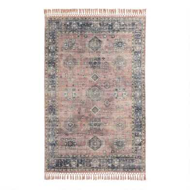 Persian Style Alma Indoor Outdoor Rug with Backing