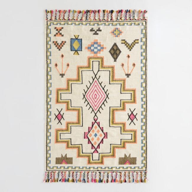 Multicolor Moroccan Kilim Yuma Indoor Outdoor Rug