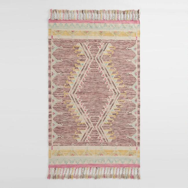 Purple Diamond Kilim Indio Indoor Outdoor Rug