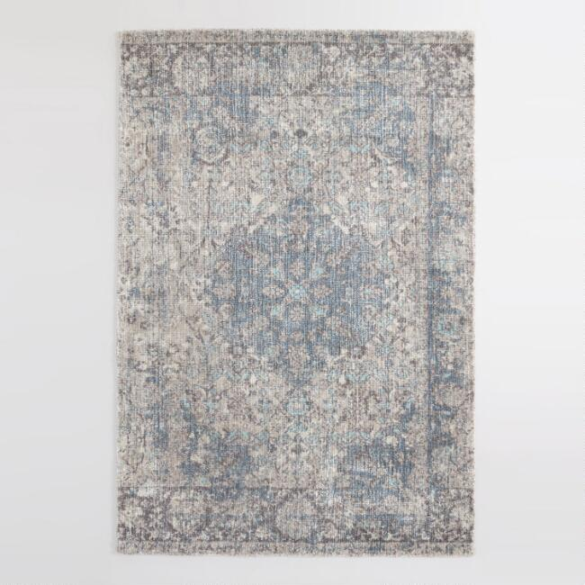 Blue and Gray Persian Style Cyprus Area Rug