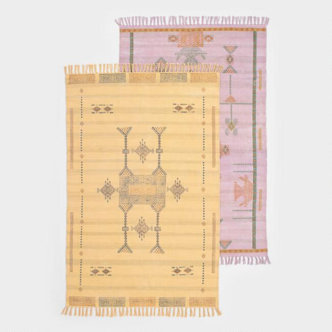 Gabbeh Print Stonewashed Cotton Alamo Area Rug