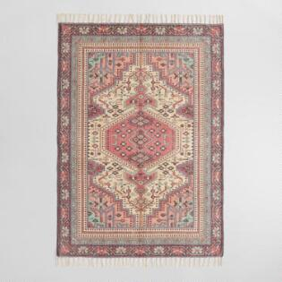 Multicolor Persian Style Brushed Cotton Azure Area Rug