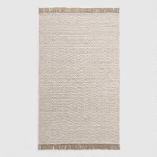 f4d9a79a29c3 Beige and Ivory Woven Diamond Indoor Outdoor Rug