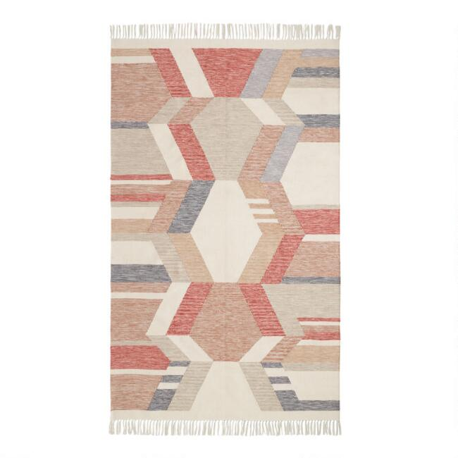 Multicolor Diamond Kilim Cascade Indoor Outdoor Rug
