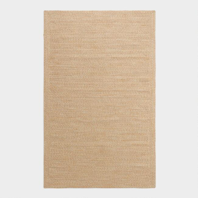 Beige Handwoven Indoor Outdoor Rug