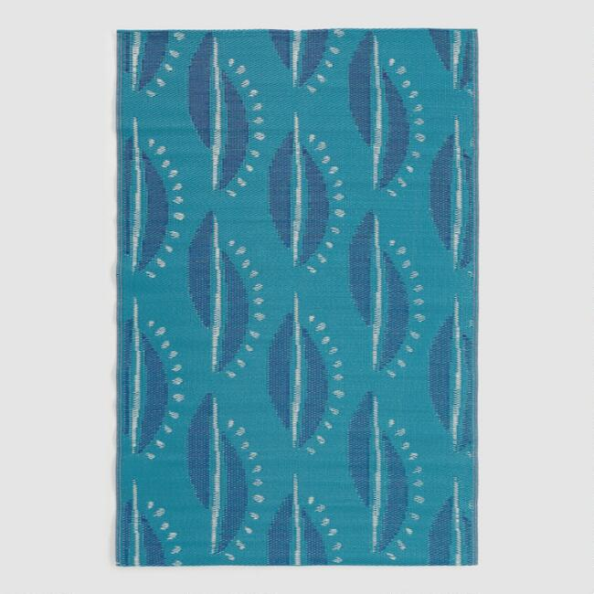 Blue Alice Reversible Indoor Outdoor Rio Floor Mat