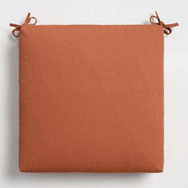 Sunbrella Rust Canvas Outdoor Chair Cushion