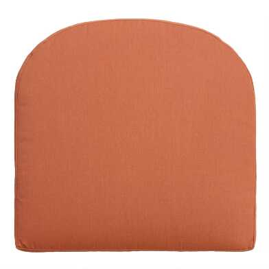 Sunbrella Rust Canvas Gusseted Outdoor Chair Cushion