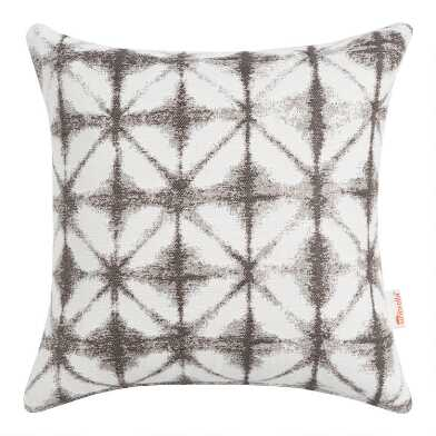Sunbrella Gray Tile Outdoor Throw Pillow