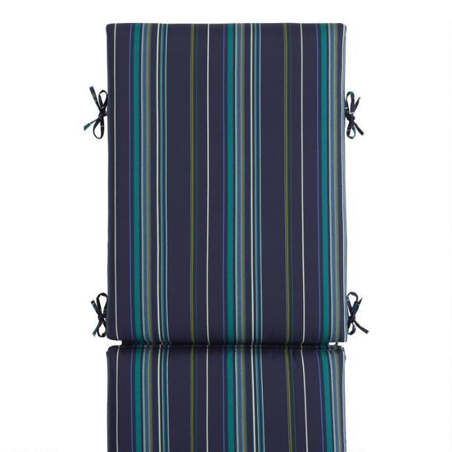 Sunbrella Cool Stripe Stanton Outdoor Chaise Lounge Cushion