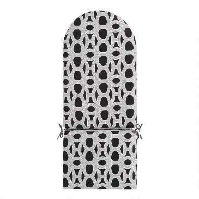 Sunbrella Black & White Woven Adirondack Chair Cushion