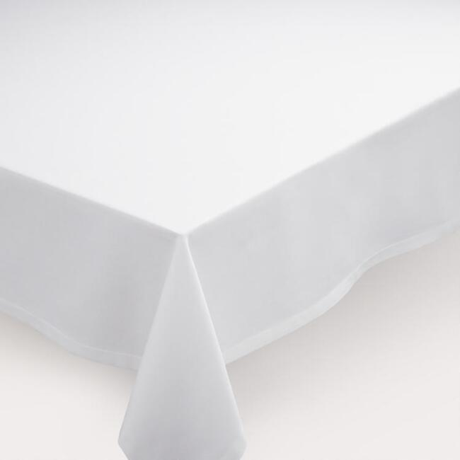 White Buffet Tablecloth