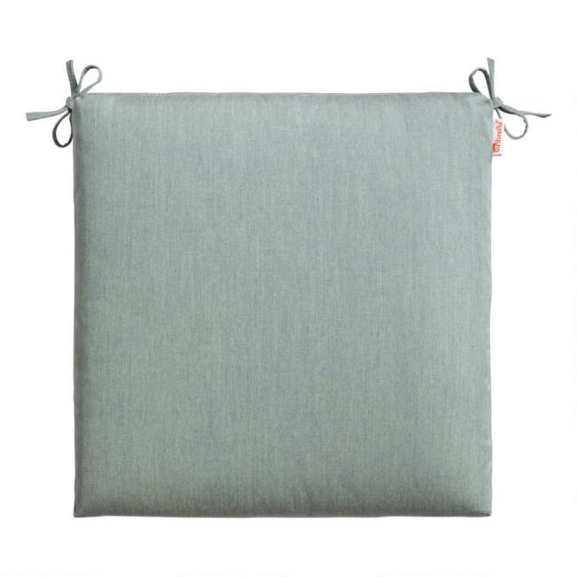 Sunbrella Spa Blue Canvas Outdoor Chair Cushion