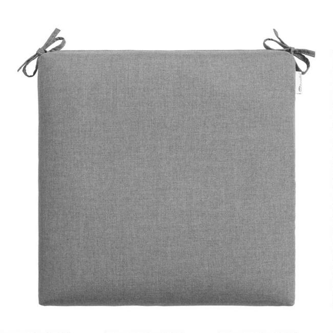 Sunbrella Slate Gray Cast Outdoor Chair Cushion