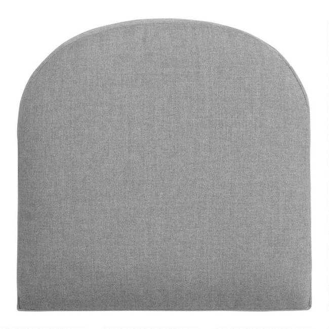 Sunbrella Slate Gray Cast Gusseted Outdoor Chair Cushion
