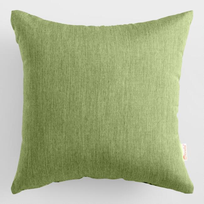 Sunbrella Moss Green Cast Outdoor Throw Pillow