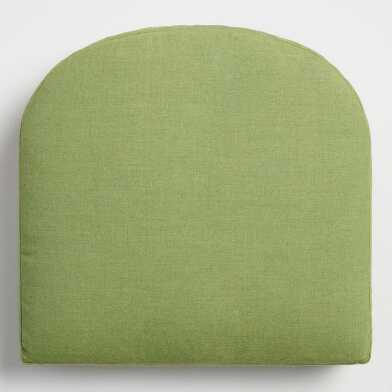 Sunbrella Moss Green Cast Gusseted Outdoor Chair Cushion